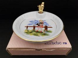 Assiette à bouillie en porcelaine / Porcelaine baby food warming plate