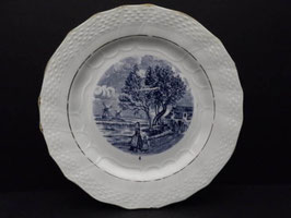 Lot de 4 assiettes Delft Moulin des Loups & Hamage / Lot of 4 Moulin des Loups & Hamage Delft plates
