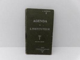 """Agenda de l'instituteur année scolaire 1921-1922 / """"Agenda de l'instituteur"""" 1921-1922"""