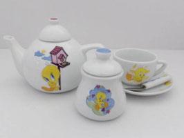 Dinette en porcelaine Titi / Tweety pie child china tea pot