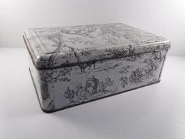 Grande boite en fer décor romantique / Large tin french romantic style