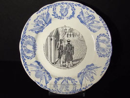 Assiette parlante Th. Fenal Badonviller / Trefenal Badonviller talking plate