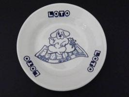 Ramasse-monnaie en faience de Gien Loto / Gien Loto change dish