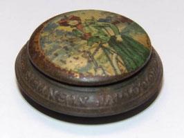 Ancienne et rare boite chocolat de poche Menier série femmes Art Nouveau / Old and rare Menier pocket chocolate tin Art Nouveau women series