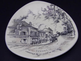 Assiette décorative Longwy ville de Bezons / Longwy decorative plate Bezons city France