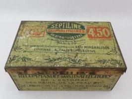 Boite en fer septiline / french tin Septiline