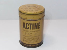Boite ancienne en métal de médicament Actine / Old french Actine pharmacy tin
