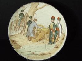 Assiette Napoleon Creil et Montereau Nos Gloires Militaires / Creil et Montereau plate Napoleon Nos Gloires Militaires