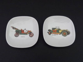 Lot de 2 petits vide-poches en porcelaine de Limoges / Lot of 2 Limoges porcelain small change dishes