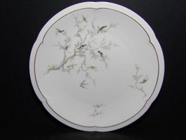 Assiettes Porcelaine Limoges Charles Arhenfeld décor oiseaux / Limoges porcelain Charles Arhenfeld plates with bird decoration
