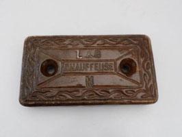 Chauffeuse ancienne en terre cuite émaillée L&G / Antique ceramic  heating brick ceramic L&G