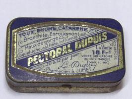 Boite en fer pastilles pectoral Dupuis / French tin pastilles pectoral Dupuis