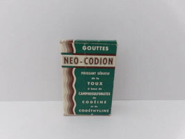 Boite ancienne de pharmacie gouttes Neo-Codion / Old pharmacy Neo-Codion drops box