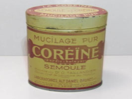 Boite ancienne en métal de médicament Coréïne / Old french pharmacy Coréïne tin