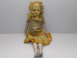 Poupée ancienne en chiffon et carton bouilli / Antique french doll made of cloth and boiled cardboard