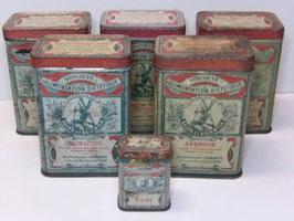 Boites anciennes en métal Société d'Alimentation Diététique / Old french Société d'Alimentation Diététique tins