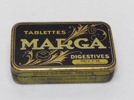 Boite métal ancienne pharmacie tablettes Marga / Pharmacy tablets Marga old tin