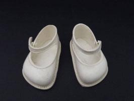 Paire de chaussures pour poupée vintage / Vintage pair of doll shoes