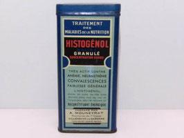 Boite métal pharmacie Histogenol avec mode d'emploi papier / Histogenol pharmacy tin with instructions for use