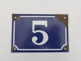 Plaque de rue ancienne métal émaillé / Old french enamel street number