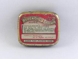 Boite en métal pastilles menthol Blackoids Brown / Blackoids Brown menthol sweet tin