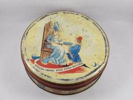 """Boite ancienne en métal de confiserie """"Doulces choses pour fines bouches"""" / Vintage french candy tin"""
