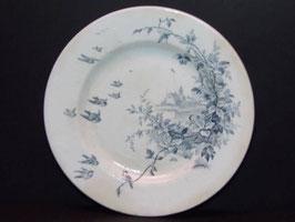 Assiette aux oiseaux Emile Bourgeois / Emile Bourgeois birds plate
