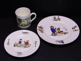 Tasse, soucoupe et assiette Max Roesler Rodach / Max Roesler cup, saucer and plate Rodach
