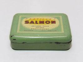 Boite métal pharmacie pastilles Salmon / Old pharmacy Salmon tin