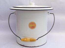 Seau vintage Leopold en métal émaillé / Vintage Leopold enamel bucket