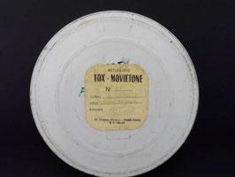 Boite en tôle vintage pour bobine de film Fox-Movietone / Fox-Movietone vintage film reel box