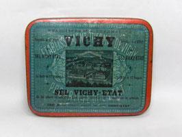 Boite en fer de sel Vichy Etat / French Vichy Etat salt tin
