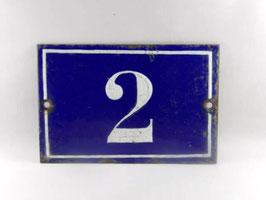 Plaque de rue ancienne en métal émaillé / Old french enamel street number