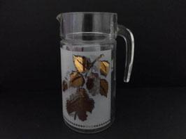Cruche vintage en verre pour orangeade / Vintage glass orangeade jug