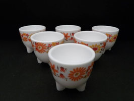 Lot de 6 Coquetiers Arcopal / Lot of 6 Arcopal Egg cups