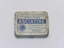 Petite boite métal pharmacie comprimés Asciatine / Small Asciatine tablet pharmacy tin