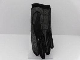 Paire de gants anciens en voile plumetis noir / Pair of vintage gloves in black veil