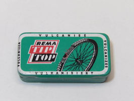 Ancienne boite de rustines pour vélo Rema Tip Top / Old Rema Tip Top bicycle patch tin