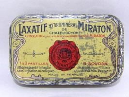Boite en fer Laxatif Miraton / French tin Laxatif Miraton