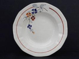 Lot de 8 assiettes creuses Digoin Sarreguemines / Lot of 8 shallow bowls Digoin Sarreguemines