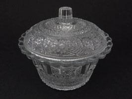 Bonbonnière ancienne en verre / Old glass sweet jar