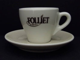 Lot de 6 tasses à café et soucoupes Folliet / Lot of 6 Folliet Cups and saucers