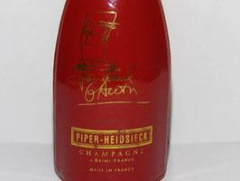 Bouteille vide champagne Piper Heidsieck édition spéciale par Jean Paul Gaultier / Piper Heidsieck champagne empty bottle special edition by Jean Paul Gaultier