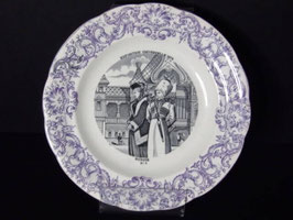 Assiette parlante Gien exposition universelle 1878 Russie / Gien talking plate 1878 universal exhibition Russia