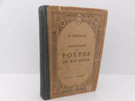 Anthologie des poètes du XIXème siècle / French book Anthologie des poètes du XIXème siècle