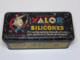 Boite métal Valor aux silicones / Vintage silicones Valor tin
