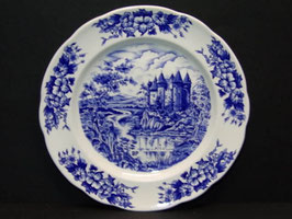 Assiettes porcelaine bleue publicitaires BP / French blue BP publicity porcelain plates