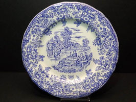 Assiettes bleues publicitaires BP / French blue BP publicity plates