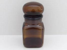 Pot Ariel vintage en verre ambré / Vintage Ariel jar in brown glass