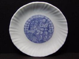Assiettes bleues publicitaires Esso Arcopal, collection Barbe bleue / Blue Esso publicity Arcopal plates, Blue beard collection